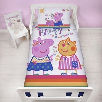 Peppa Pig dekbedovertrek 120x150 - Hooray