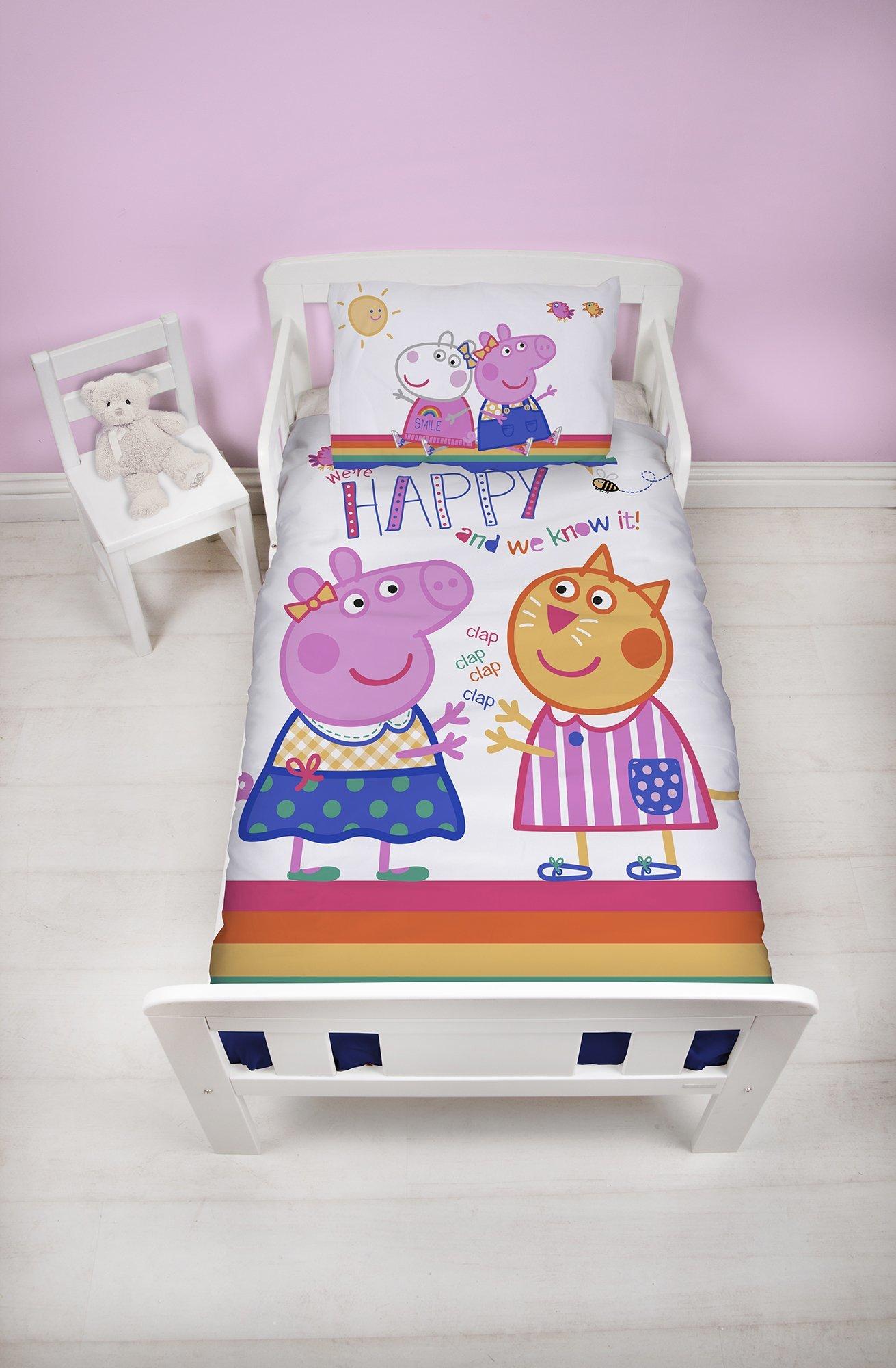 Peppa Pig dekbedovertrek 120x150 Hooray