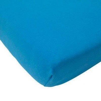 Katoenen hoeslaken 75x150 - Turquoise