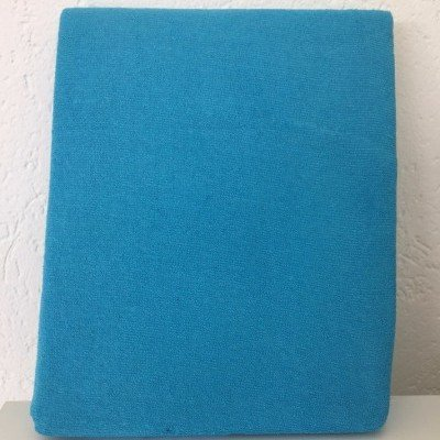 Badstof hoeslaken 60x120 - Turquoise