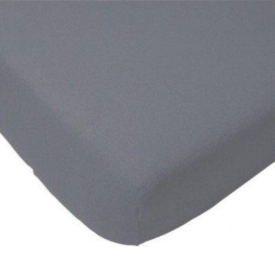 Katoenen hoeslaken 60x120 - Antraciet