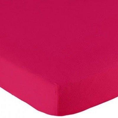 Jersey hoeslaken 60x120 - Fuchsia