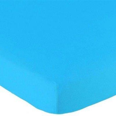 Jersey hoeslaken 60x120 - Aqua