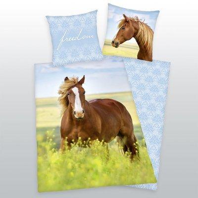Paarden dekbedovertrek 140x200 - Freedom