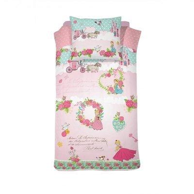 Prinsessen dekbedovertrek 140x200 - Buttercup Pink