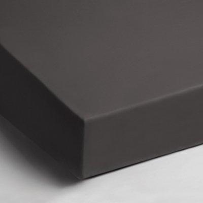 Jersey hoeslaken 90x200 - Antraciet