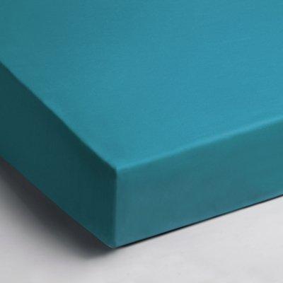 Jersey hoeslaken 90x200 - Aqua