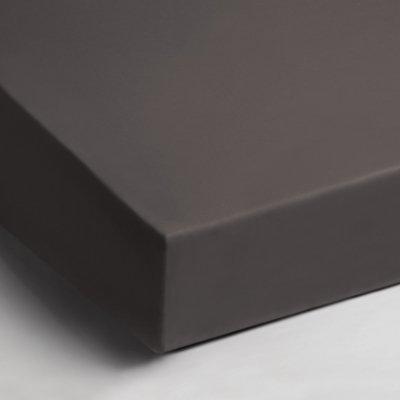 Katoenen hoeslaken 90x200 - Antraciet