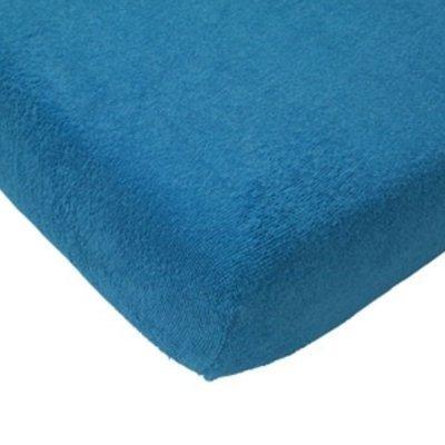 Badstof hoeslaken 75x150 - Turquoise