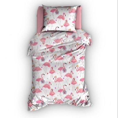 Flamingo dekbedovertrek 100x150 - Rose