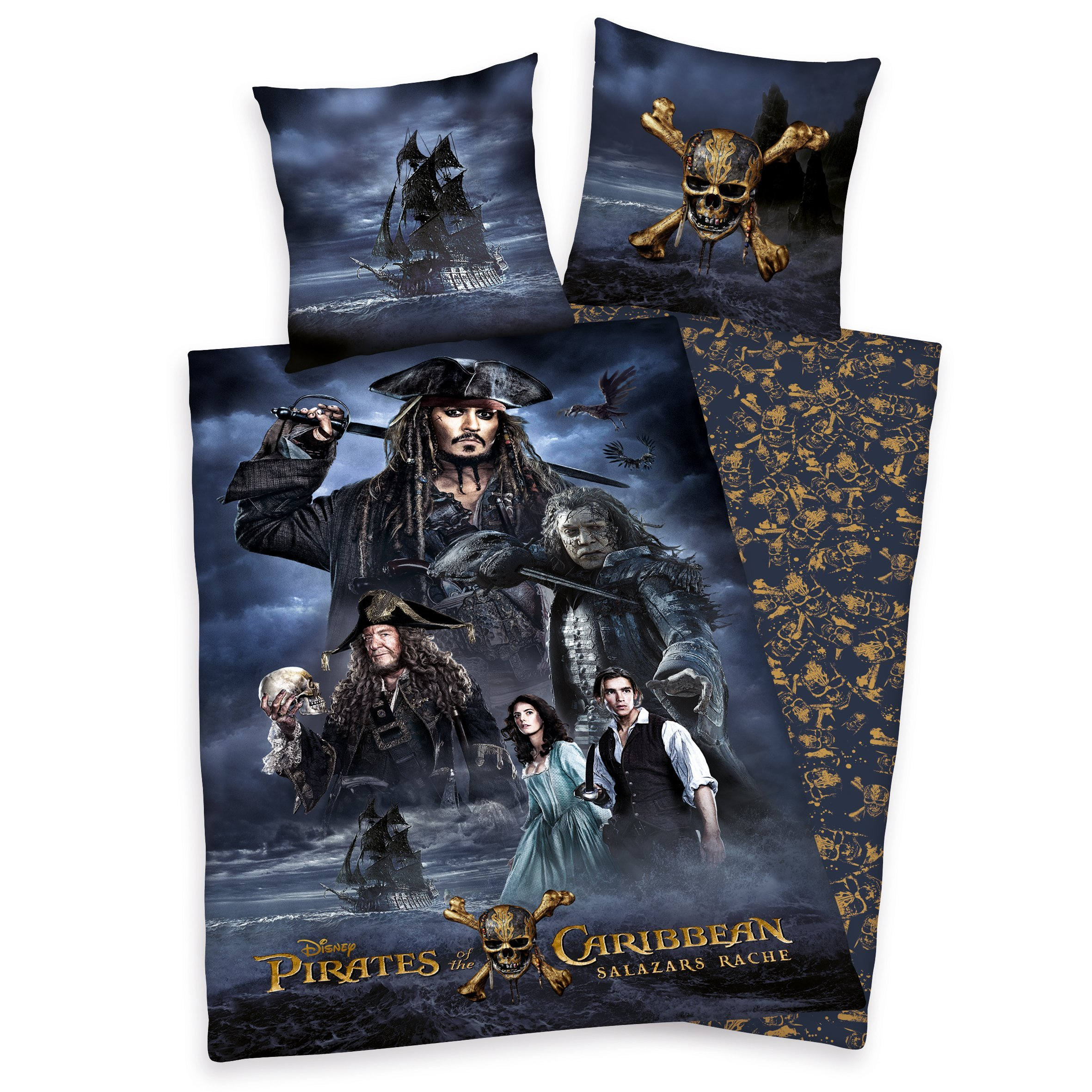 Pirates of the Caribbean dekbedovertrek 140x200 Salazars Revenge