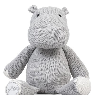 Nijlpaard Knuffel - Light Grey