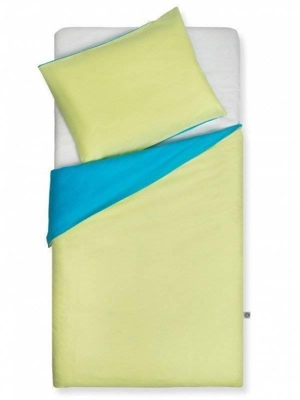 Turquoise / Lime dekbedovertrek 120x150