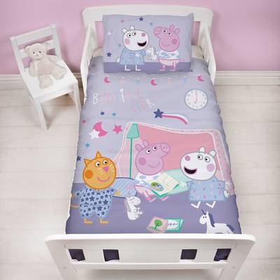 Peppa Pig dekbedovertrek 120x150 - Sleepy