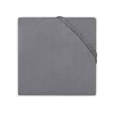 Katoenen hoeslaken 75x150 - Dark Grey