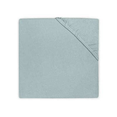 Katoenen hoeslaken 75x150 - Soft Green
