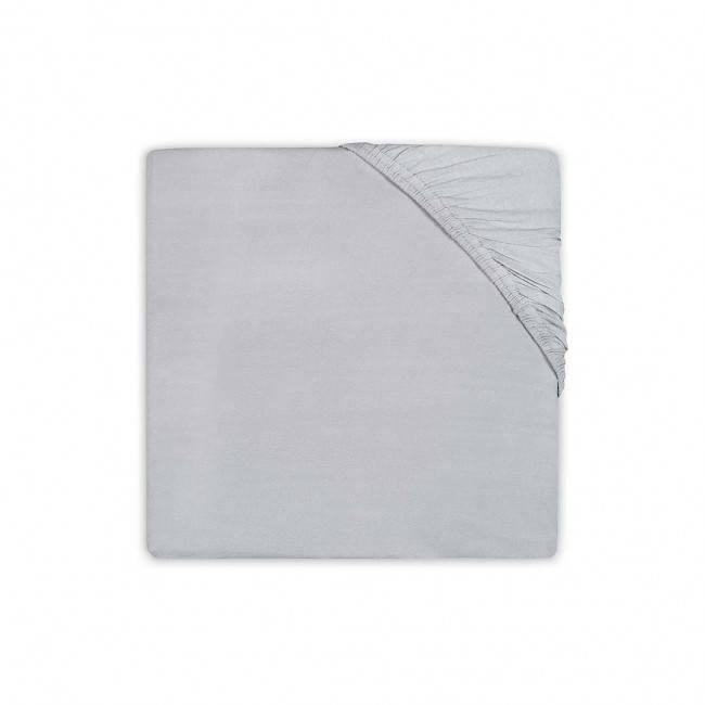 Katoenen hoeslaken 75x150 - Soft Grey