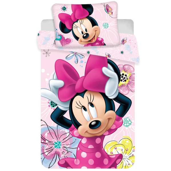 Minnie Mouse dekbedovertrek 100x135 - Butterfly