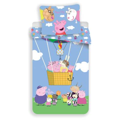 Peppa Pig dekbedovertrek 140x200 - Friends