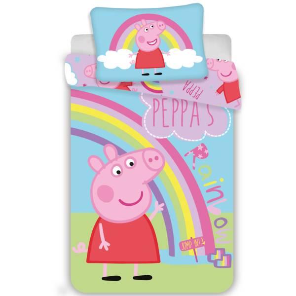 Peppa Pig dekbedovertrek 100x135 - Rainbow
