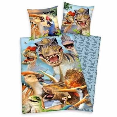 Selfies dekbedovertrek 140x200 - Dinosaurus