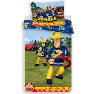 Brandweerman Sam dekbedovertrek 100x135 - Blauw