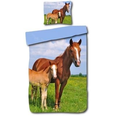Paard met veulen dekbedovertrek 140x200
