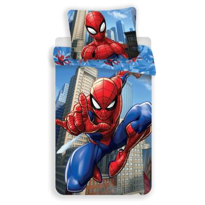 Spiderman dekbedovertrek 140x200 - Blue