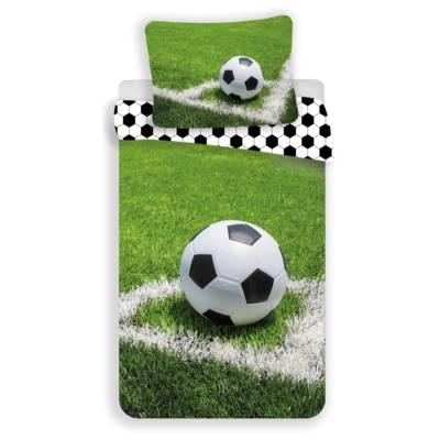 Voetbal dekbedovertrek 140x200 - Groen