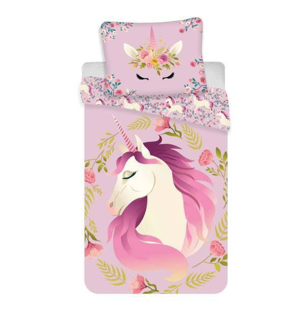 Unicorn dekbedovertrek 140x200 - Flowers