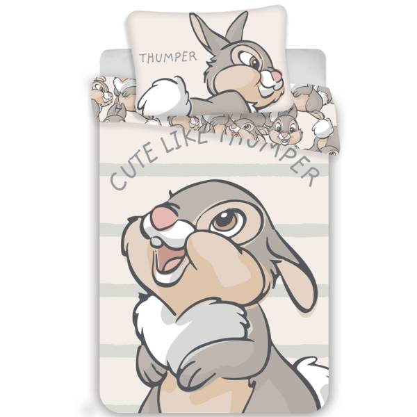 Bambi dekbedovertrek 100x135 - Thumper