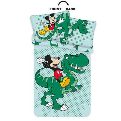 Mickey Mouse dekbedovertrek 100x135 - Groen