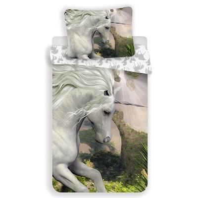 Unicorn dekbedovertrek 140x200 - White