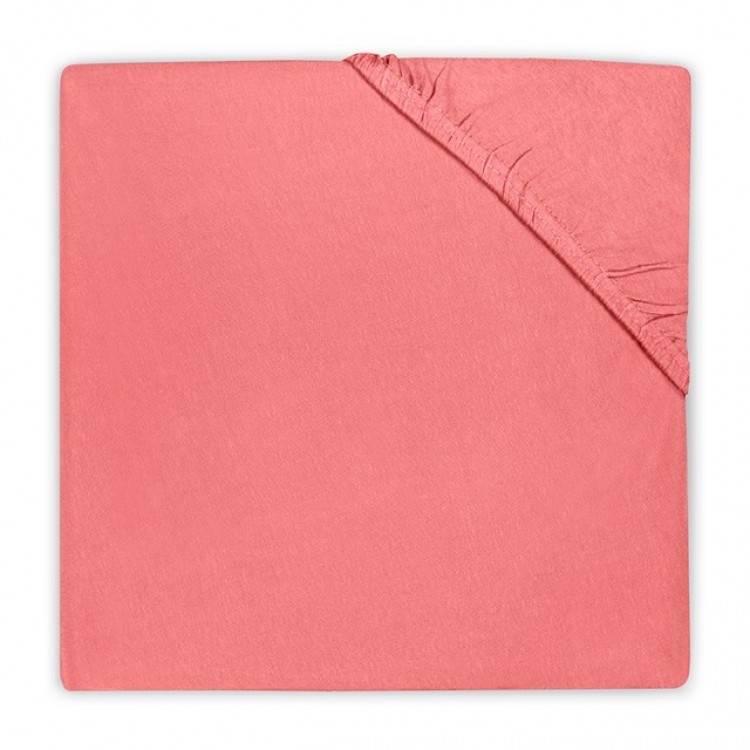 Jersey hoeslaken 90x200 - Koraal Roze
