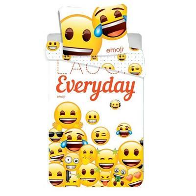 Emoji dekbedovertrek 140x200 - Laugh Everyday