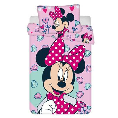 Minnie Mouse dekbedovertrek 100x135 - Roze