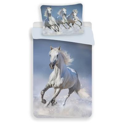 Paarden dekbedovertrek 140x200 - White Horses