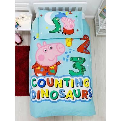 George Pig dekbedovertrek 120x150 - Counting Dinosaurs