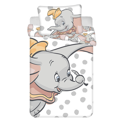 Dumbo dekbedovertrek 100x135 - Dots