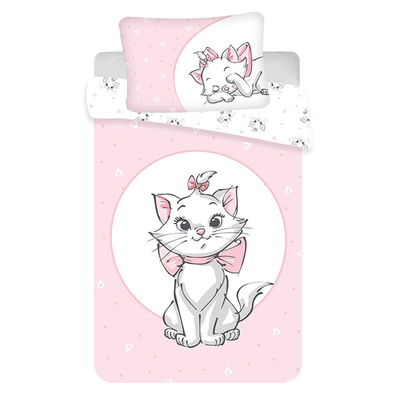 Marie Cat dekbedovertrek 100x135 - Licht Roze