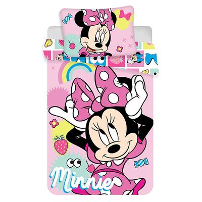 Minnie Mouse dekbedovertrek 100x135 - Pink Square