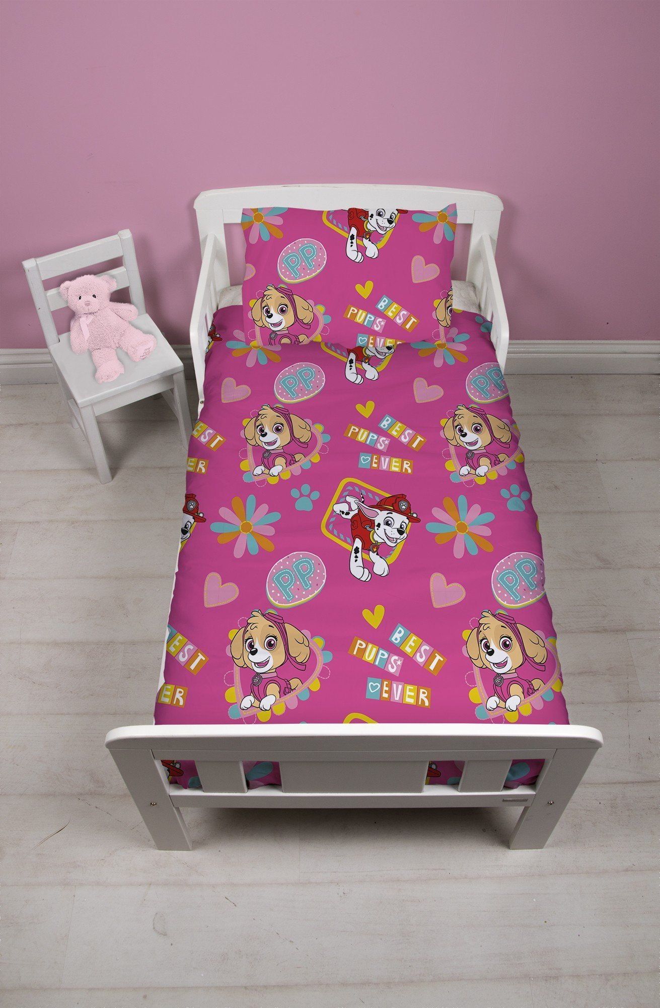 paw patrol dekbedovertrek 120x150 forever. Black Bedroom Furniture Sets. Home Design Ideas