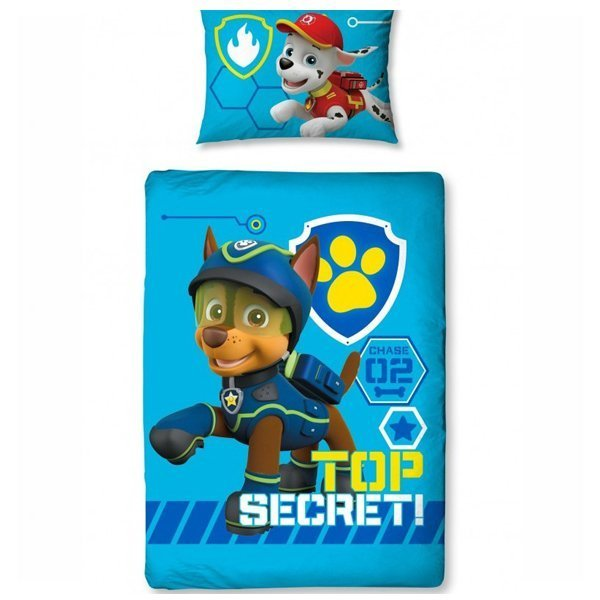 paw patrol dekbedovertrek 120x150 spy. Black Bedroom Furniture Sets. Home Design Ideas