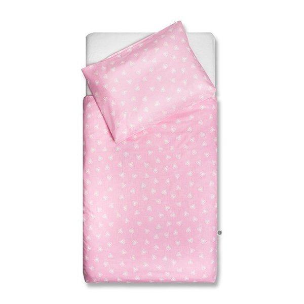 Hearts dekbedovertrek 120x150 - Pink