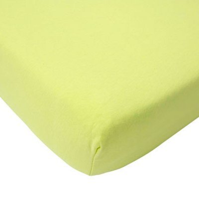 Jersey hoeslaken 75x150 - Soft Lime