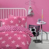 Sterren dekbedovertrek 140x200 - Starville Pink