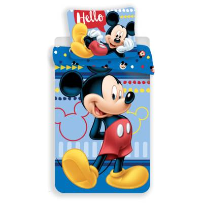 Mickey Mouse dekbedovertrek 140x200 - Hello