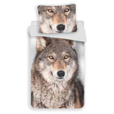 Wolf dekbedovertrek 140x200
