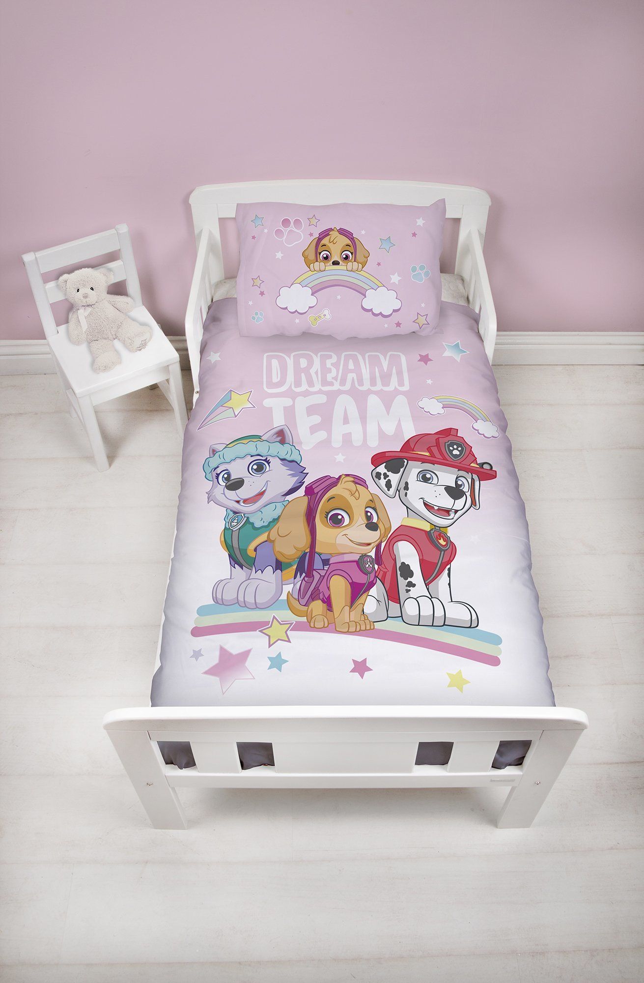 paw patrol dekbedovertrek 120x150 dream team koalabedding. Black Bedroom Furniture Sets. Home Design Ideas