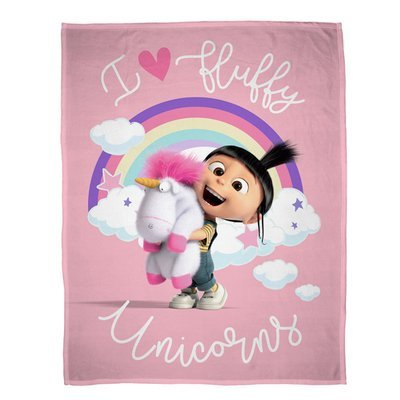Fluffy Unicorns fleece deken